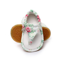 Floral Baby Flip Flop Sandals- Rubber Sole