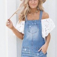 Block Party Overall Denim Dress
