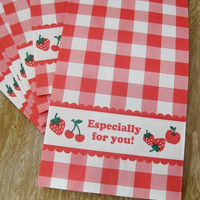 Strawberry Treat Bag/Lunch Sack/Gift Bag - Set of 8