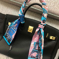 Louis Vuitton LV silk neck bow - bag bow