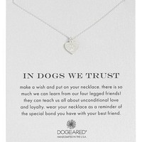 Dogeared 'In Dogs We Trust' Pendant Necklace | Nordstrom