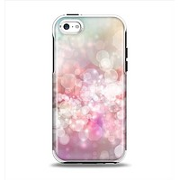 The Unfocused Pink Abstract Lights Apple iPhone 5c Otterbox Symmetry Case Skin Set