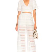 JONATHAN SIMKHAI Side Tie Cover Up Top in Ivory | FWRD