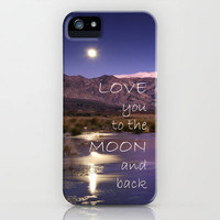 Love you to the moon and back.  Valentine's Day iPhone Case by Guido Montañés   Society6