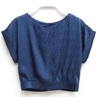 Loose Cropped Blouse - OASAP.com