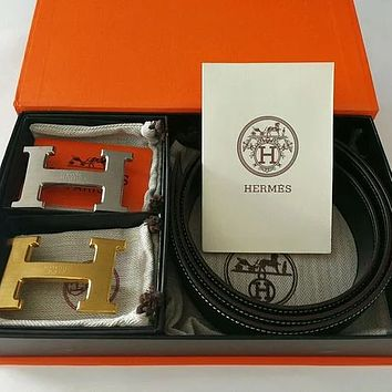 Hermes classic H letter buckle retro all-match belt (With box)