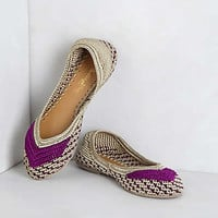 Anthropologie - Tidal Pool Ankle-Wrap Flats