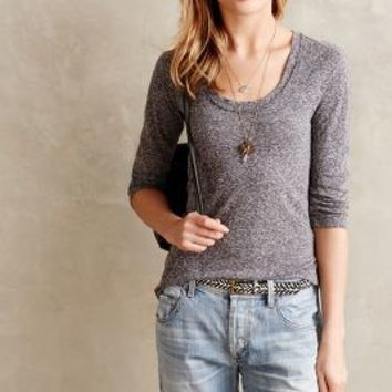 Frosted Heather Tee by Anthropologie Grey
