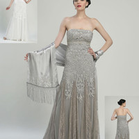Sue Wong N2107 White Wedding or Evening Gown