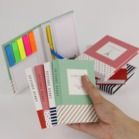 Korean Creative Tower Hardcover Combine Memopad Notepad Stationery Diary Notebook Office School Supplies With Pen 1pcs