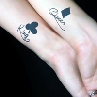 MagicPieces Temporary Tattoo Sticker-King and Queen
