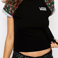 Vans Cropped T-Shirt With Parrot Print Sleeve