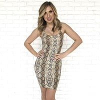 Silk Python Bodycon Dress