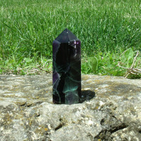 Purple Green Fluorite Point Natural Polished Metaphysical Crystal Healing Energy Stone Rock Gem Mineral Specimen
