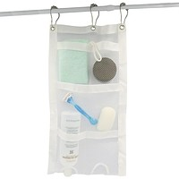 Evelots Shower Caddy-Organizer-Mesh-Easy Bottle Squeeze-5 Pockets-Soap-Shampoo