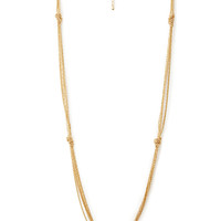 Chic Long Knotted Necklace