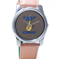 Looking For A Sign   Middle Finger Wrist Watch