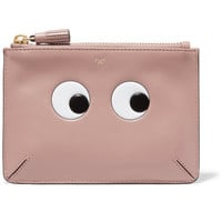 Anya Hindmarch - Eyes Loose Pocket small embossed leather pouch