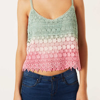 Dip Dye Crochet Cami - Tops - Clothing - Topshop USA
