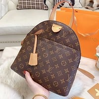 LV Louis Vuitton LV New monogram print backpack bag shoulder bag crossbody bag handbag