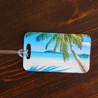 Going to the Beach Luggage Tags - Palm Tree