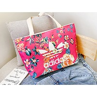 ADIDAS fashion canvas print single shoulder bag hot seller for women's casual shopping bag #3