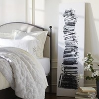 Book Stack Stretched Canvas