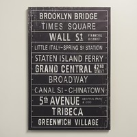 """New York Metro Sign"" by Maria Mendez"