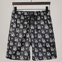 Dior gradient letter print mens and womens casual shorts-1