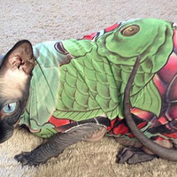 Cat Clothes Tattcat™ Big Koi Fish Tattoo Dog sweater dog clothes Mothers Day gift Pet Top Fashion Sphynx Cat Chinese Crested Dog