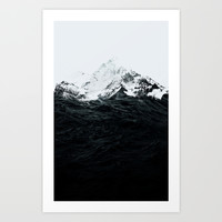 Those waves were like mountains Art Print by Robert Farkas