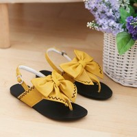 Bow Tie Flat Sandals