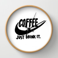 Coffee Wall Clock by Hand Drawn Type