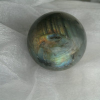 Natural Labradorite Gemestone Sphere - 79.8 G, 38mm, Blue & fiery flash - display, jewelry supply, gemstone, gift, metaphysical, collect