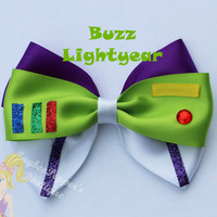 Buzz lighteryear hair bow Toy story hair bow disney hair bow