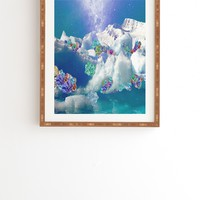 Ceren Kilic Winter Diamonds Framed Wall Art