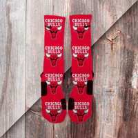 CHICAGO BULLS CUSTOM NIKE ELITE SOCKS