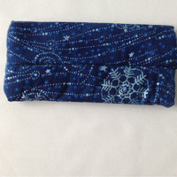 Soft Eye Glasses Case Blue with Stars