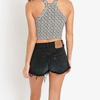Truly Madly Deeply Little Leaves Binding Tank Top in Ivory - Urban Outfitters