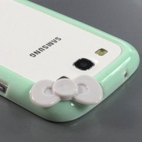 ZuGadgets 7602-8 Sleek Bow Bumper Case Cover for Samsung Galaxy S III S3 i9300-Light Green