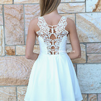 PRE ORDER - ALL EYES ON ME DRESS (Expected Delivery 6th May, 2014) , DRESSES, TOPS, BOTTOMS, JACKETS & JUMPERS, ACCESSORIES, 50% OFF SALE, PRE ORDER, NEW ARRIVALS, PLAYSUIT, COLOUR, GIFT VOUCHER,,White,LACE,CUT OUT,SLEEVELESS,MINI Australia, Queensland, Br