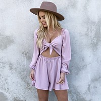 Knot This Time Pink Romper