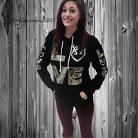 black country love  camo  hoodie