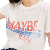 Topshop Maybe Baby Cotton Tee | Nordstrom