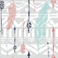 Feathers and Arrows Print