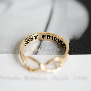Dainty Infinity Rings   Set of Two Friendship Rings
