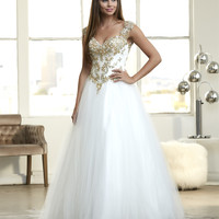 Mac Duggal 48195H Jeweled Ball Gown Prom Dress Evening Gown $459