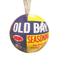 Old Bay Can / Tin Ball Ornament
