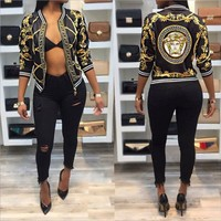 ONETOW Versace new autumn digital printing printed long sleeve jacket jacket thin section