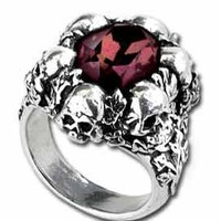 Alchemy Gothic - Shadow Of Death Ring R105 [AG] - $35.00 : Gorey Details, - Edward Gorey, Tim Burton, Alice, Poe, gothic, horror, halloween, vampire, bats, skull, zombie, dragon, fairy, victorian